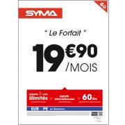 Affiche Forfait 19.90 Syma Mobile – Novembre 2017