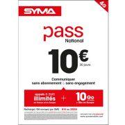 Affiche Pass illimité Syma Mobile – Mars 2018