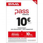 Affiche Pass illimité Syma Mobile – Février 2018