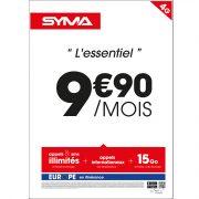Affiche Forfait 9.90€ Syma Mobile – Novembre 2017