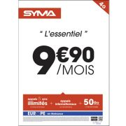 Affiche Forfait 9.90€ Syma Mobile – Avril 2018