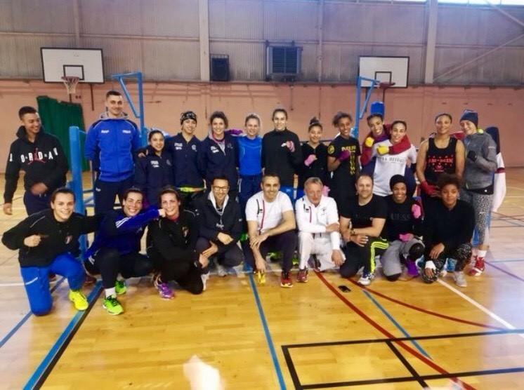 Rima -Avec l'équipe d'Italie Entrainement