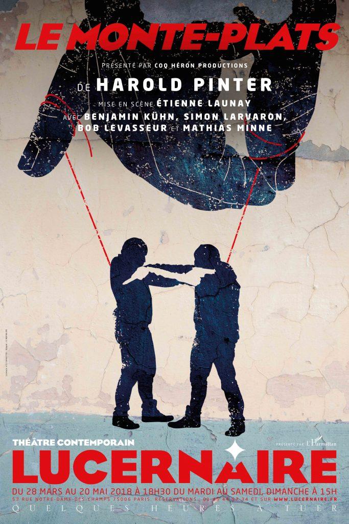 Le Monte-Plats -Harold Pinter - Lucernaire - Soumission - libre-arbitre - Théâtre - Etienne Launay - The Dumb Waiter - Paris - Affiche