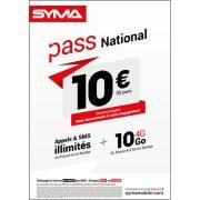 Affiche Pass illimité Syma Mobile – Juin 2018