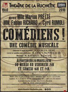 Comédiens! - La Huchette - Musical - Syma Mobile - Syma News - Yérémian - Eric Chantelauze - Raphaël Bancou - Music - Paris