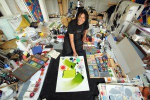 Lassaad Metoui - IMA - Syma Mobile - Syma News - Florence Yérémian - Art - Calligraphie - Peinture - Matisse - Tunisie - Pinceau ivre - Institut du Monde Arabe