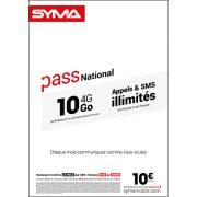 Affiche Pass illimité Syma Mobile – Août 2018