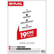 Affiche Forfait 19.90€ Syma Mobile – Août 2018