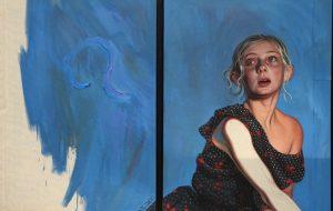 FIAC 2018 - Art Contemporain - Paris - Artistes - Paintings - Sculpture - Moderne - grand Palais - SYMA News - SYMA Mobile - Florence Yeremian - Kati Heck - Allemagne - Germany - Deutschland - Galerie Tim van Laere - Dusseldorf - Diptyque - Fille - Fraue - peur - Fear