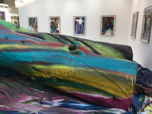 FIAC 2018 - Art Contemporain - Paris - Grand Palais - Artistes - Paintings - Sculpture - Moderner - SYMA News - SYMA Mobile - Florence Yeremian - Gagosian Gallery - Katharina Grosse - Grand Palais - yellow