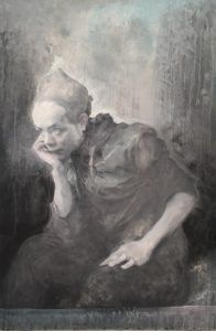FIAC 2018 - Grand Palais -Galerie PACE - Chine - China - Mao Yan - Portraitiste - Maître - Portrait - Psychologie - noir et blanc - mélancolie - Silence- Asie - Asia - Art Contemporain - Paris - Artistes - Paintings - Sculpture - Moderne - SYMA News - SYMA Mobile - Florence Yeremian