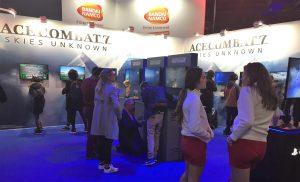 Paris Games Week salon jeu video gamer Bandai Namco Ace Combat