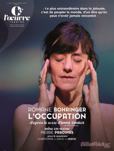 L'occupation - Romane Bohringer - Thetre de l'oeuvre - The?a?tre - Paris - Amour - Jalousie - Trahison - Passion - Syma News - Syma Mobile - Florence Yeremian