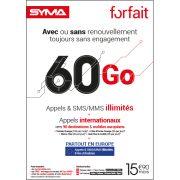 Affiche Forfait 15,90€ Syma Mobile – Janvier 2019