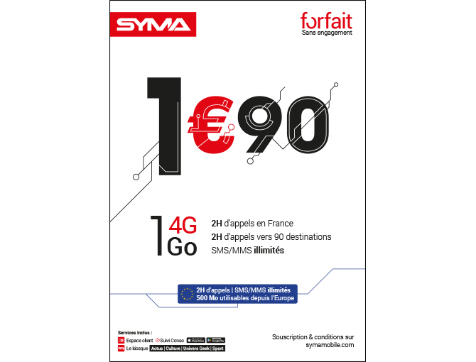 Forfait 1,90€ - Janvier 2019