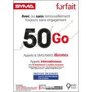 Affiche Forfait 9.90€ Syma Mobile – Janvier 2019