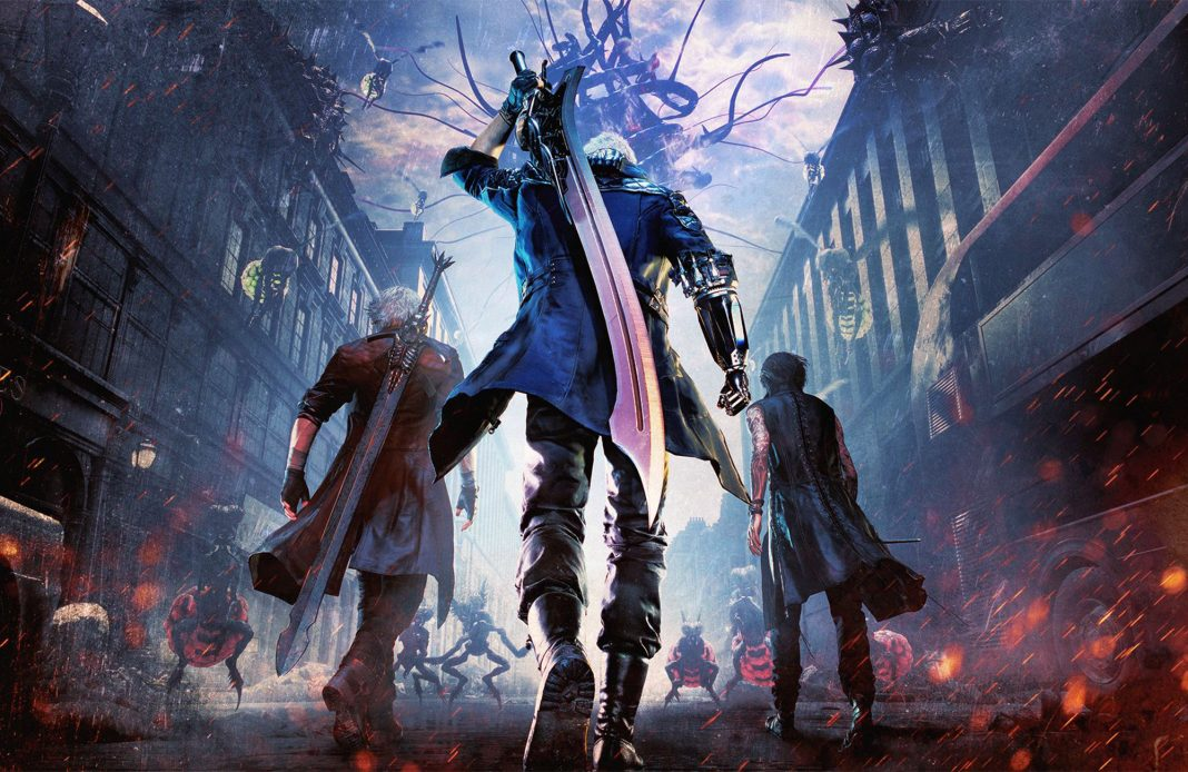 Devil May Cry 5 Capcom jeu vidéo action Dante Nero V Sparda Science-Fiction Vergil Urizen PS4 XboxOne Sony Microsoft