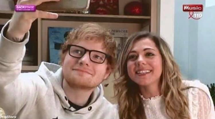 Marina Tomassi - Ed Sheeran - M6 Music - Backstage