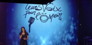 Leurs voix pour l'espoir - concert - Olympia - Laurie Cholewa