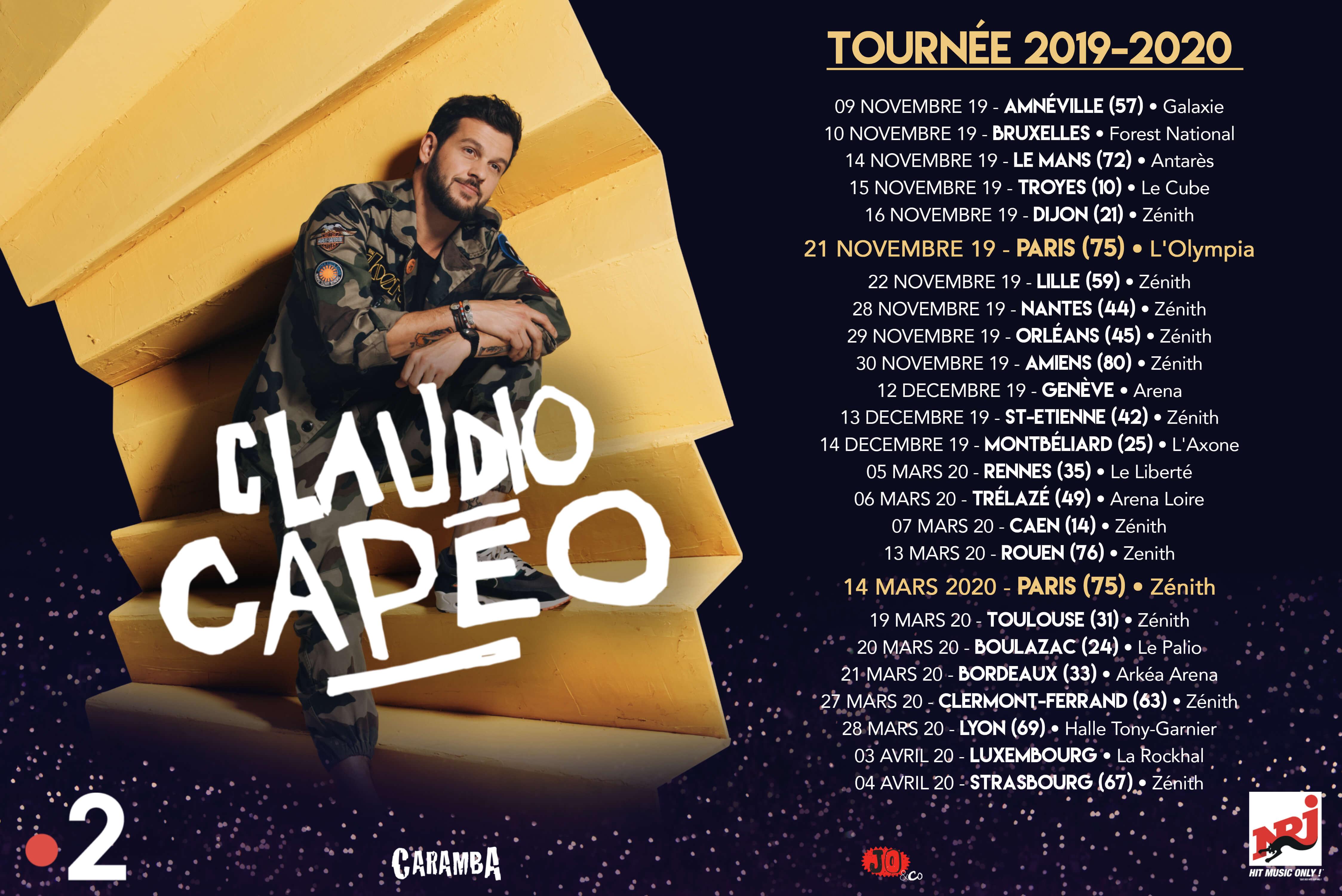 Claudio Capéo - Tournée - Album - Tant que rien ne m'arrête - réédition
