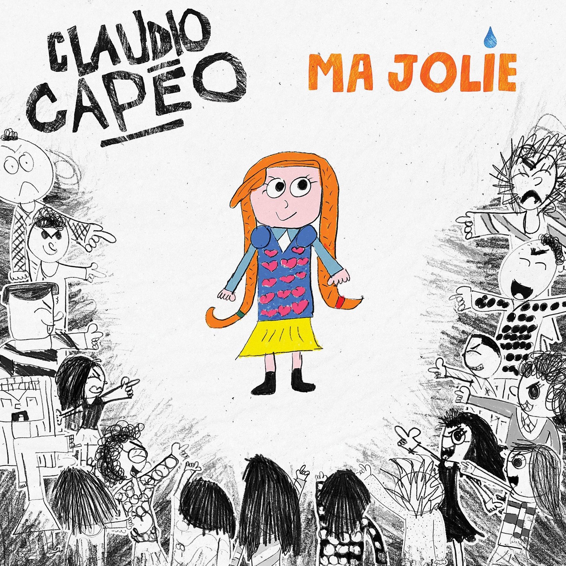 Claudio Capéo - single - pochette - Ma jolie - harcèlement scolaire
