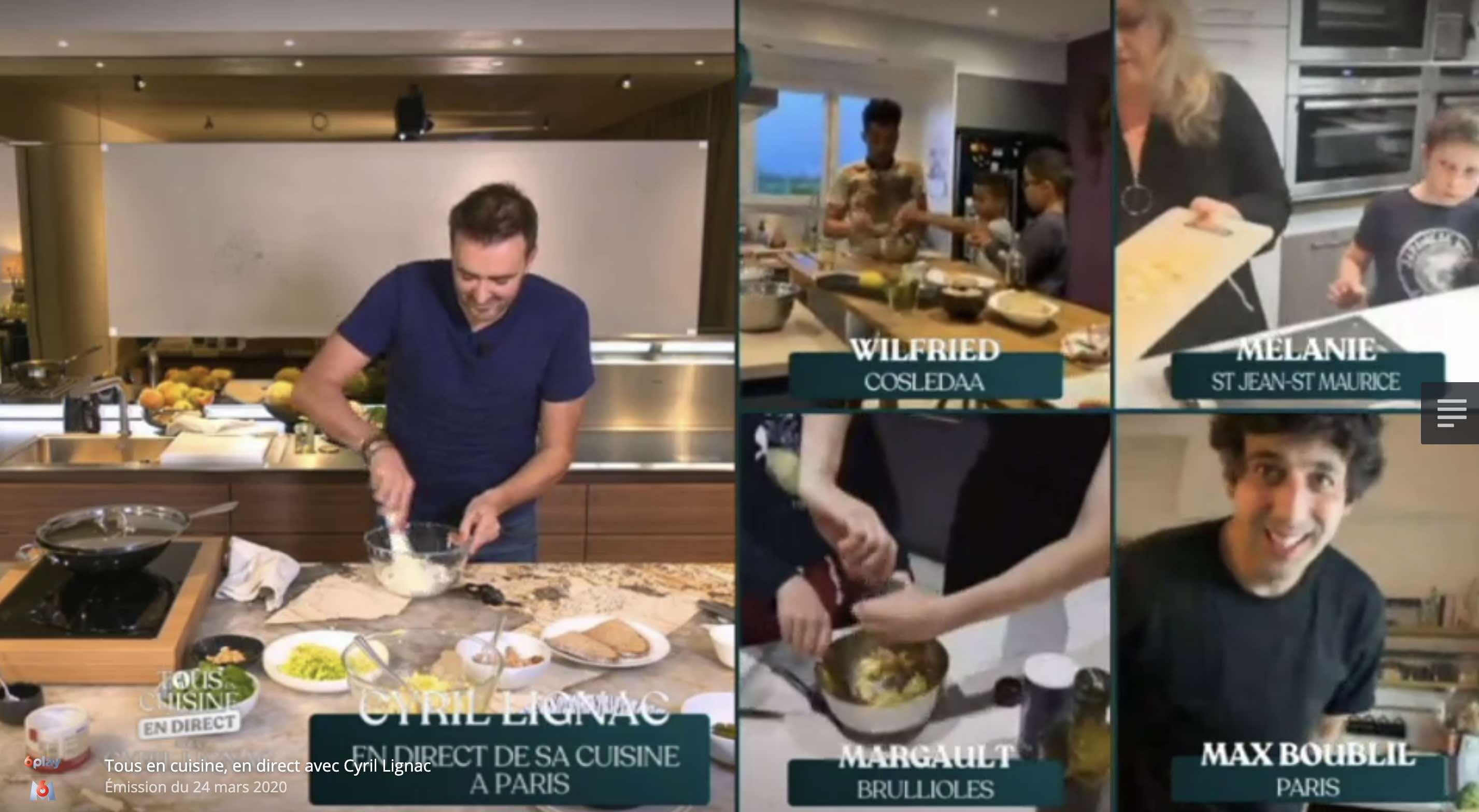 Visio Tous En Cuisine Avec Cyril Lignac Sur M6