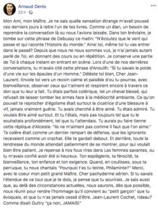 Jean-Laurent Cochet - Cochet - syma news - Symanews - Theatre - Théâtre - Florence Yeremian - Molière - Pièce - drame - comédie - tragédie - mise en scene - metteur en scene - acteur - comédien - professeur - le cours cochet - depardieu - maurice denis - jean marais - guitry - art - culture - deuil - mort - corona virus