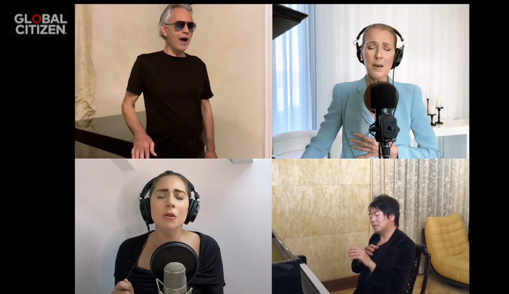 One World Together At Home - Céline Dion - Lady Gaga - Andréa Bocelli - Lang Lang