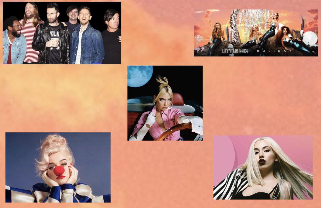 Musique pop - été 2020 - Little Mix - Maroon 5 - Ava Max - Dua Lipa - Katy Perry