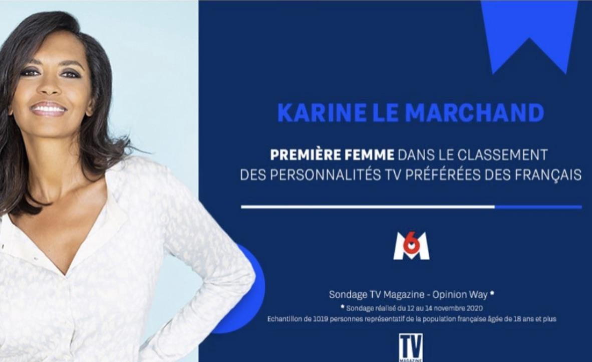 Karine Le marchand - personnalité tv préférée -