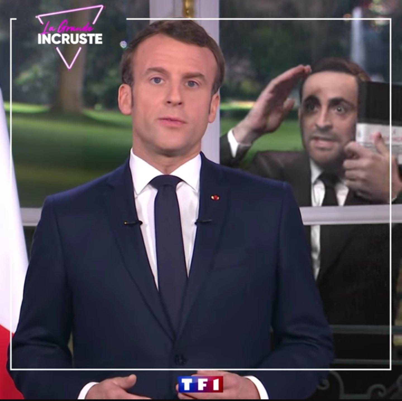 La grande incruste - Camille Combal - TF1 - Emmanuel Macron -