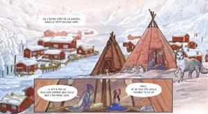 Les voyages de lotta - BD - Marion Zimmer - ofride - bande dessinée - livre - books - Editions Miss jungle - steinkis - laponie - samis - chaman - chaminisme -syma news - Florence yeremian