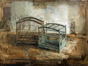 safet-zec-sarajevo-painter-cage-oiseaux-syma-yeremian-florence-galerie-schwab-paris-expo
