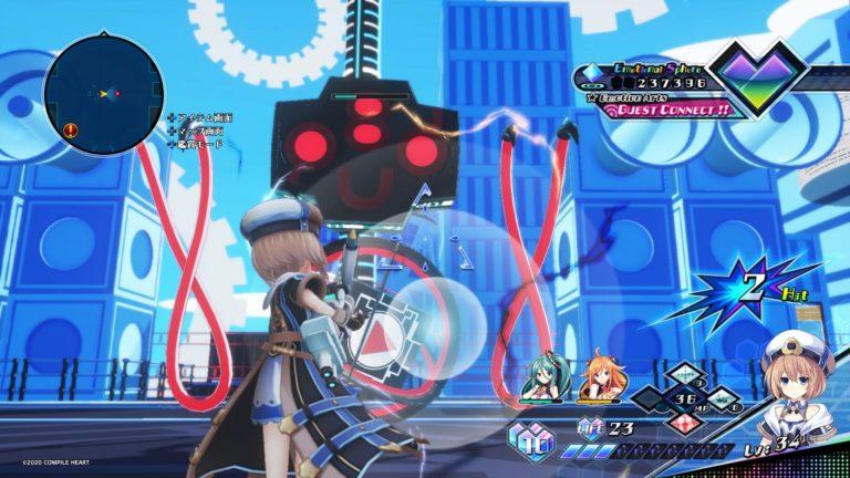 Neptunia Virtual Stars PS4 JRPG jeu de roles parodie bishojo tir jeu vidéo Blanc