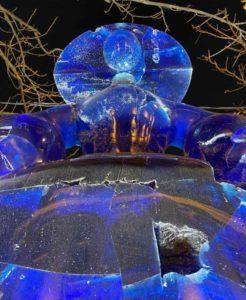 Manolo Valdes - menine - bleu - exposition - george V - art - syma - florence Yeremian