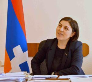 Artsakh - ministre - culture - Lucine Gharakhanyan - syma news - florence gopikian - yeremian - armenie
