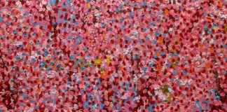 damien hirst - fondation cartier - syma news - Florence yeremian - gopikian - exposition - exhibition - cerisier - fleurs - tableaux - art - expo