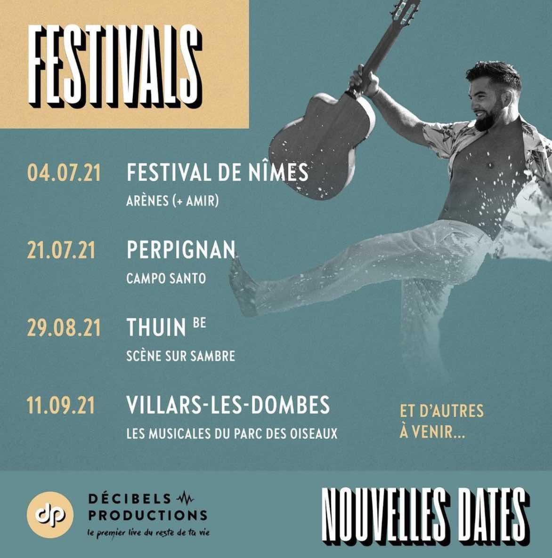 Kendji Girac - Festivals - été 2021 -