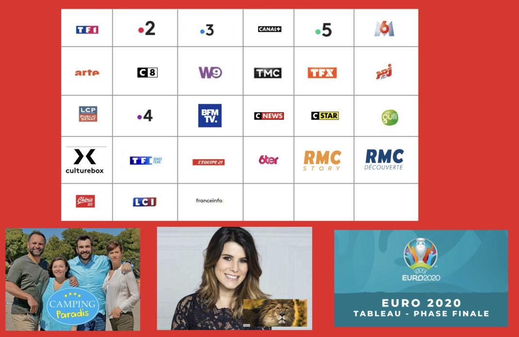 programme tv - juillet 2021 - camping paradis - euro 2020 finale - zoos -