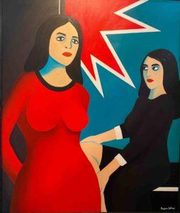 marjane Satrapi - rouge - femme - peinture - syma - florence yeremian - gopikian