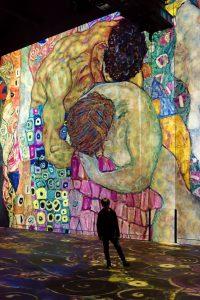 L'Atelier des lumières - Paris - Art - Klimt - Schiele - Vienne - Hundertwasser - art numérique - exposition