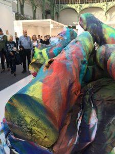 FIAC 2018 - Art Contemporain - Paris - Grand Palais - Artistes - Paintings - Sculpture - Moderner - SYMA News - SYMA Mobile - Florence Yeremian - Gagosian Gallery - Katharina Grosse - Grand Palais - yellow