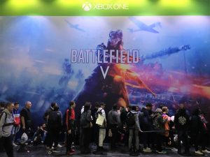 Paris Games Week salon jeu video gamer EA Battlefiled BF5 FPS