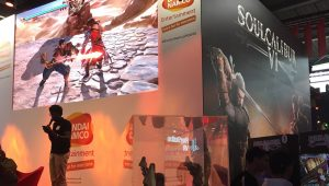 Paris Games Week salon jeu video gamer Bandai Namco Soulcalibur baston