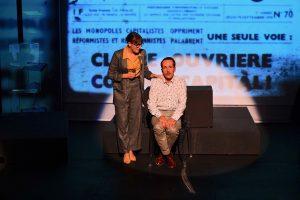 Schrodinger - The?a?tre - Artistic Theatre - Science - Eric Chantelauze - Samuel Sene? - Raphael Bancou - Syma News - Syma Mobile - Florence Yeremian-