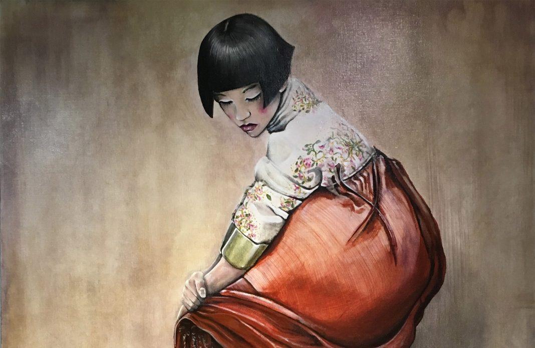 Raffi Djendoyan - expo - Florence Berthout - armenien - armenie - Syma News - Peinture - art - exposition - mairie 5e - Florence Yeremian - raffi - paris - peintre - dessin - art - art contemporain - Culture - bar - bistrot - vieux paris - René capitant - fusain - encre - panthéon - tableau - étrange - tatouage - japon