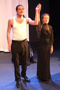 La dame celeste - le diable delicat - berengere dautun - alexis neret - claude Alain Planchon - stephane cottin - studio hebertot - batignolles - syma news - theatre - paris - opera - danseuse - amour - passion - love - danse - ballet