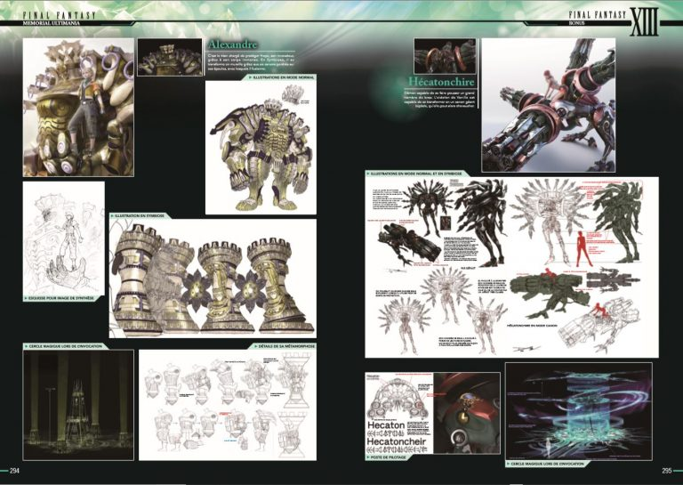 Final Fantasy Encyclopédie Memorial Ultimania RPG jeu de rôles Square Enix Livre Artbook Secrets Développement Playstation 2 Playstation 3 Croquis Esquisses Concept Art Yoshitaka Amano jeu vidéo retrogaming