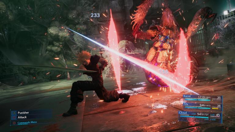 Final Fantasy VII remake SquareEnix Sony PS4 Playstation jeu de rôles RPG Cloud Barrett gameplay système combat midgar shinra ATB