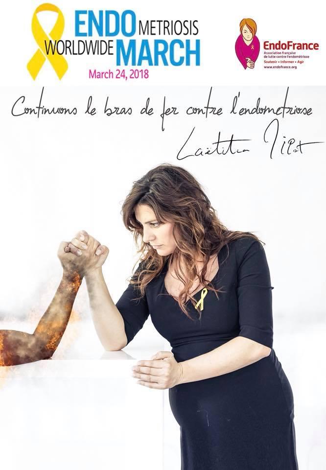 Laetitia Milot - endometriose - endofrance - association - maladie - combat